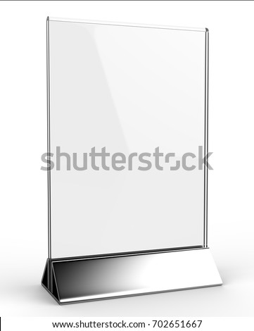 Clear Plastic Acrylic Table Talkers Promotional Stock Illustration - Acrylic menu table tent holders