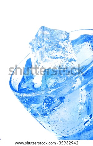 clear pure natural water  inside transparent glass - stock photo