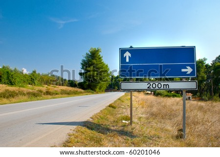 Clear road sign - stock photo