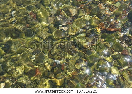 Clear sea water - stock photo