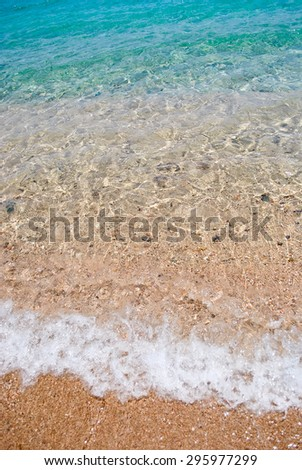 Clear sea water and sand - stock photo