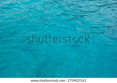 clear sea water for background - stock photo