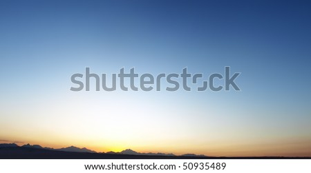 Clear sky - stock photo