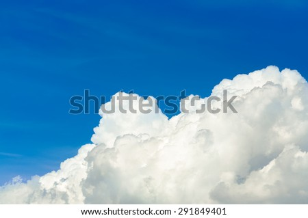 Clear sky. bright sun. Photo clear sky with white, contrasting the sun. - stock photo
