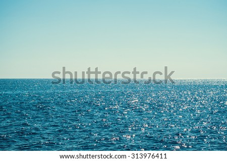 Clear sky over the sea