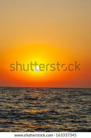 Clear sky without clouds at sunset. natural composition of - stock photo