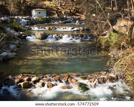 Waterfall narrows stock photo 12094516 shutterstock - Trout farming business family mountains ...