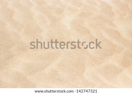 Clear texture of beige ripple sand - stock photo