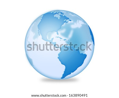 Clear three dimensional earth illustration.  - stock photo