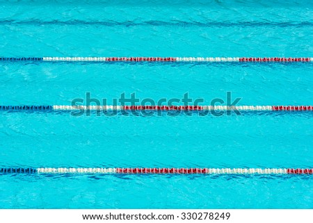 Clear transparent swimming pool water background. Horizontal shot - stock photo