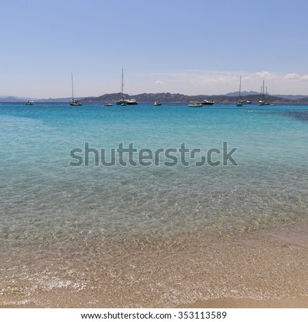Clear turquoise water at Maddalena Archipelago in Sardinia