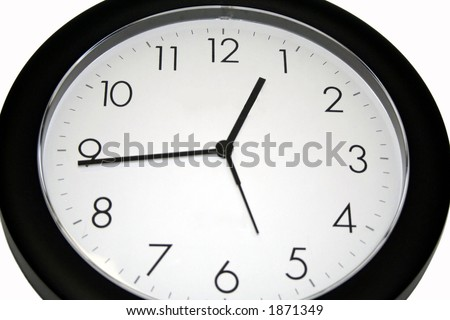 clear wall clock - stock photo
