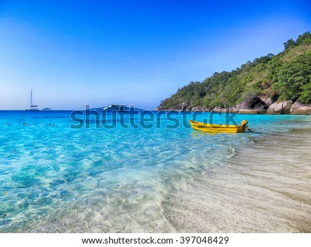 Clear water at Similan Island Phuket, Thailand