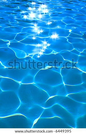 clear water in the swimming pool
