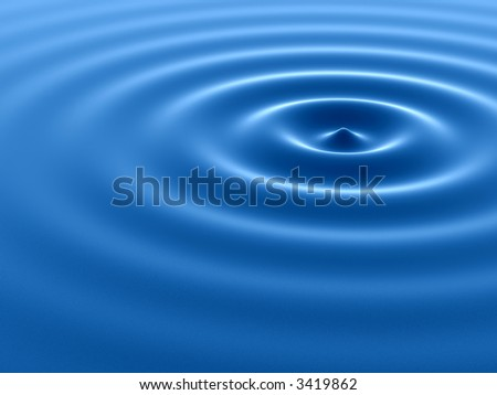 Clear water ripple