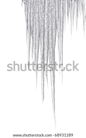 clear white icicles