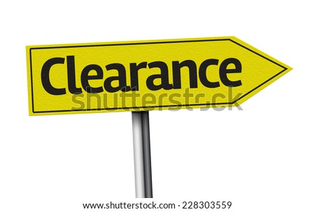 Clearance creative sign on white background - stock photo