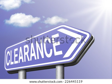 clearance grand sale stock summer or winter sales and reduced prices % off authorization granted or denied by bill computer and information security  - stock photo