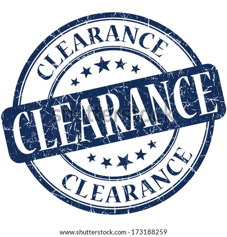 Clearance grunge blue round stamp