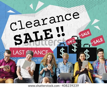 Clearance Sale Promotion Offer Discount Concept