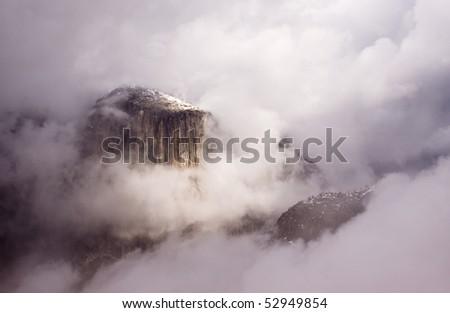 Clearing Storm - El Capitan - stock photo