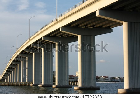 clearwater bridge, fl - stock photo