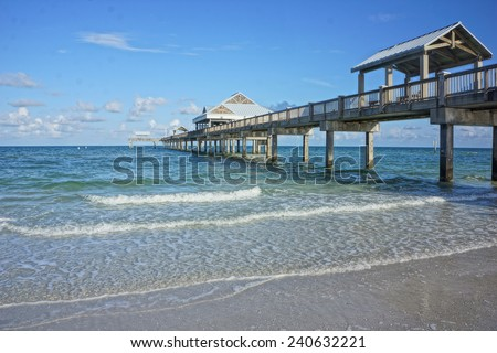Clearwater florida stock images royalty free images for Clearwater fishing pier
