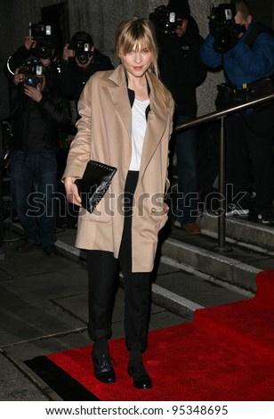 Clemence Poesy arriving for the Evening Standard Film Awards, County Hall, London. 06/02/2012 Picture by: Alexandra Glen / Featureflash