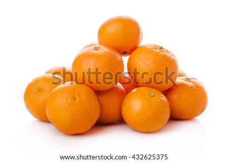 clementine  isolated.  mandarin.  orange. tangerine - stock photo
