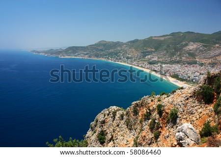 Cleopatra beach in Alanya Turkey - stock photo