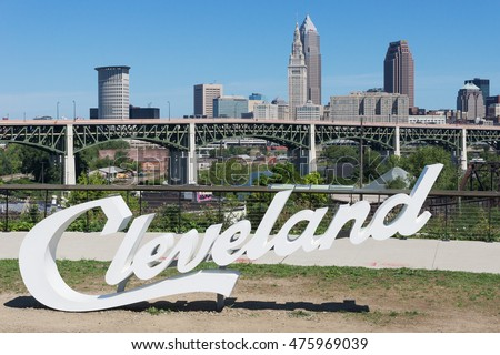 CLEVELAND  OH   August 29  Erected just prior to the Republican Convention  in July. Cleveland Ohio Stock Images  Royalty Free Images   Vectors