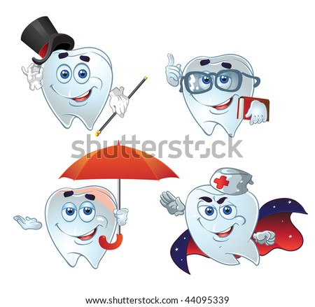 clever dentes hurry up on help. raster - stock photo