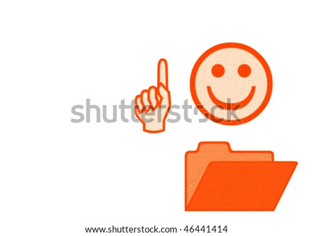 clever smile - stock photo