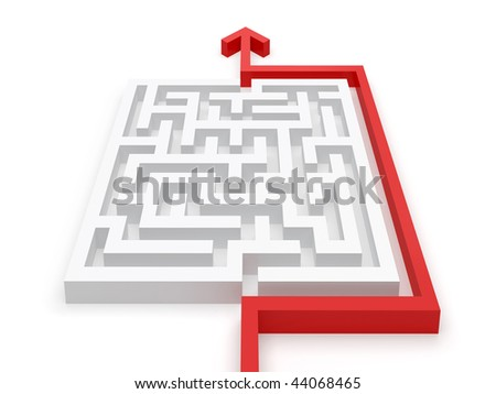 Clever solved jigsaw puzzle - see more in portfolio - stock photo