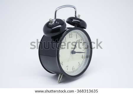 click alarm on white background