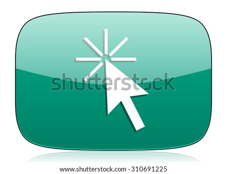 click here green icon
