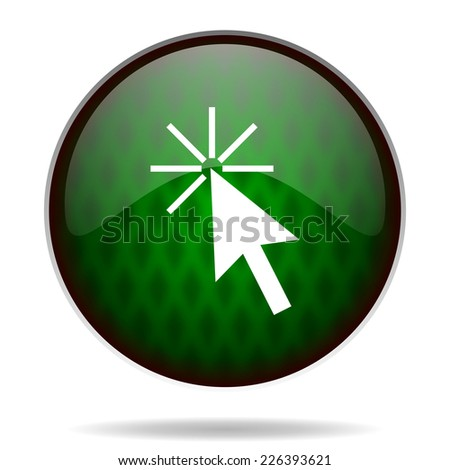 click here green internet icon