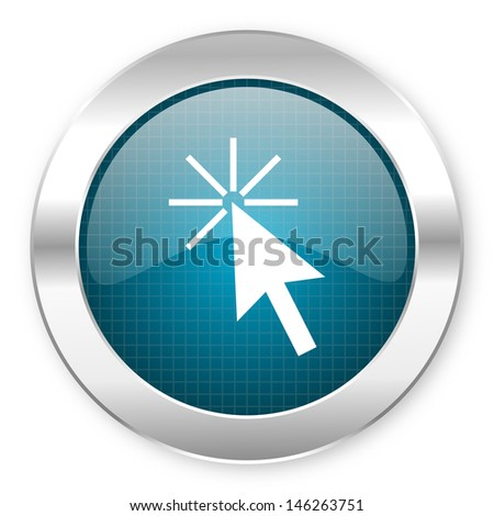 click here icon  - stock photo