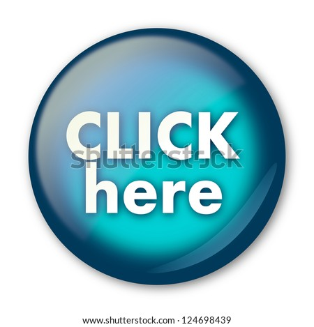 Click here round web button - stock photo