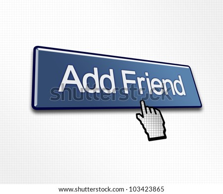 Clicked Add Friend Button Illustration for Social Media - stock photo
