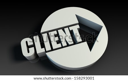 Client Concept With an Arrow Going Upwards 3D - stock photo