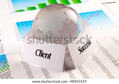 Client = success - stock photo