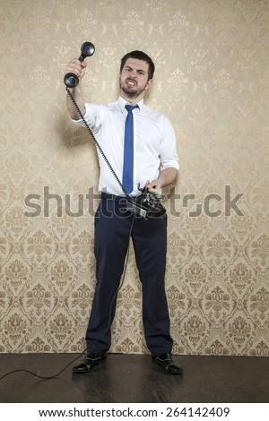 client talking foolishness - stock photo