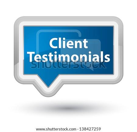 Client Testimonals - stock photo