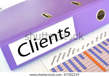 CLIENTS folder on a market report