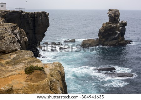 cliff above the sea - stock photo