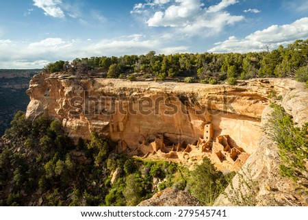 Cliff dwellings in Mesa Verde National Parks, Colorado, USA - stock photo