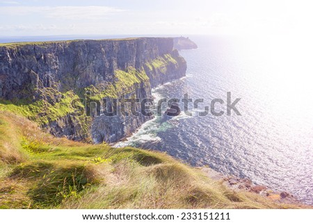 Cliff of Moher in County Clare, Ireland - stock photo