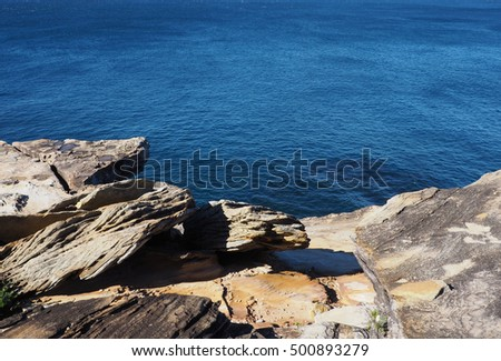 Cliff on Coast Track, The Royal National Park, New South Wales