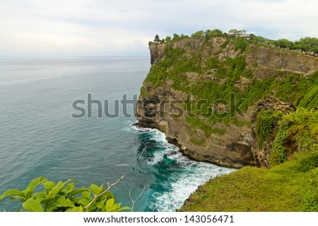cliff on the coast, Bali, Indonesia